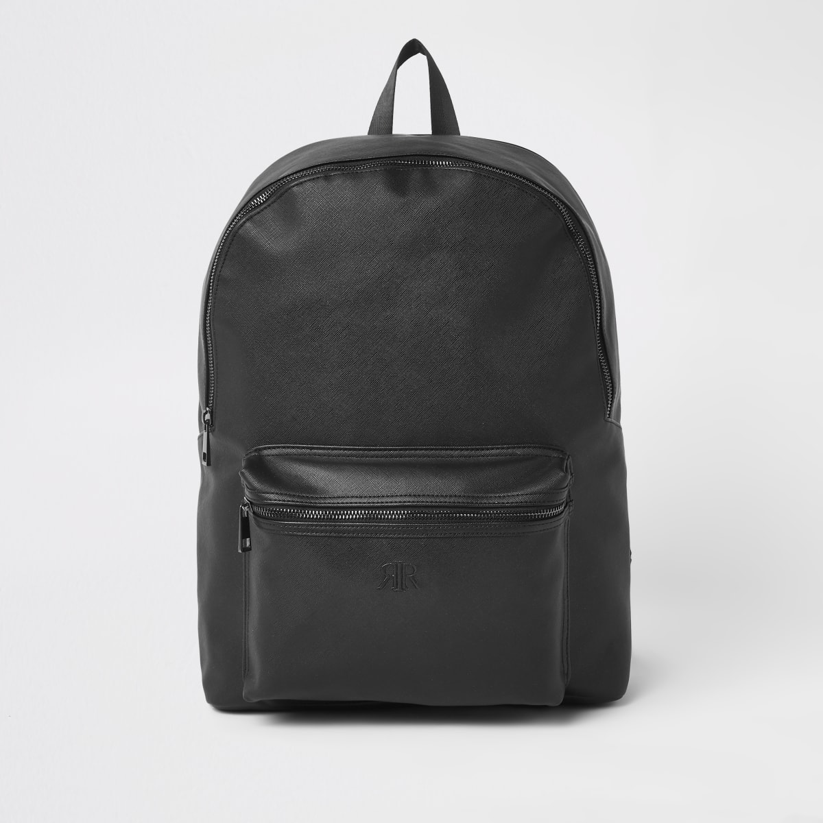 Black RI embossed backpack