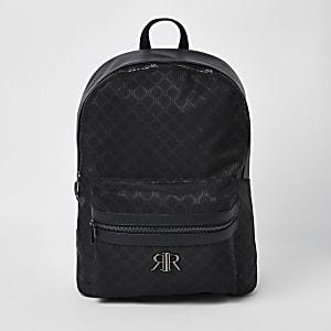 Zwarte rugzak met RI-monogram
