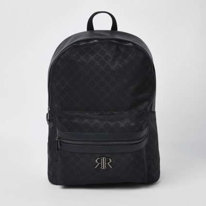 Black RI monogram backpack