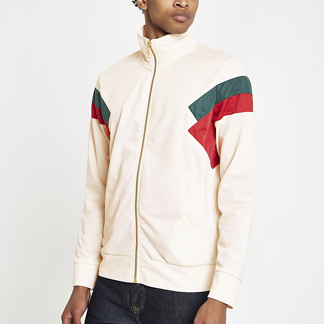 Criminal Damage white colour block track top