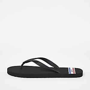 Levi's – Schwarze Flip-Flops