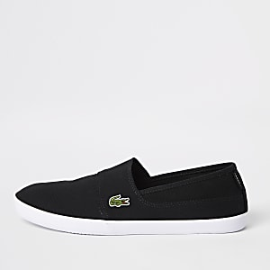 Lacoste black slip on sneakers