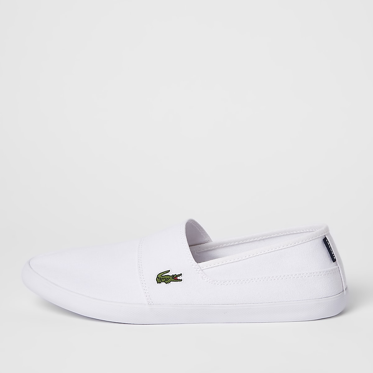 Lacoste white slip on trainers