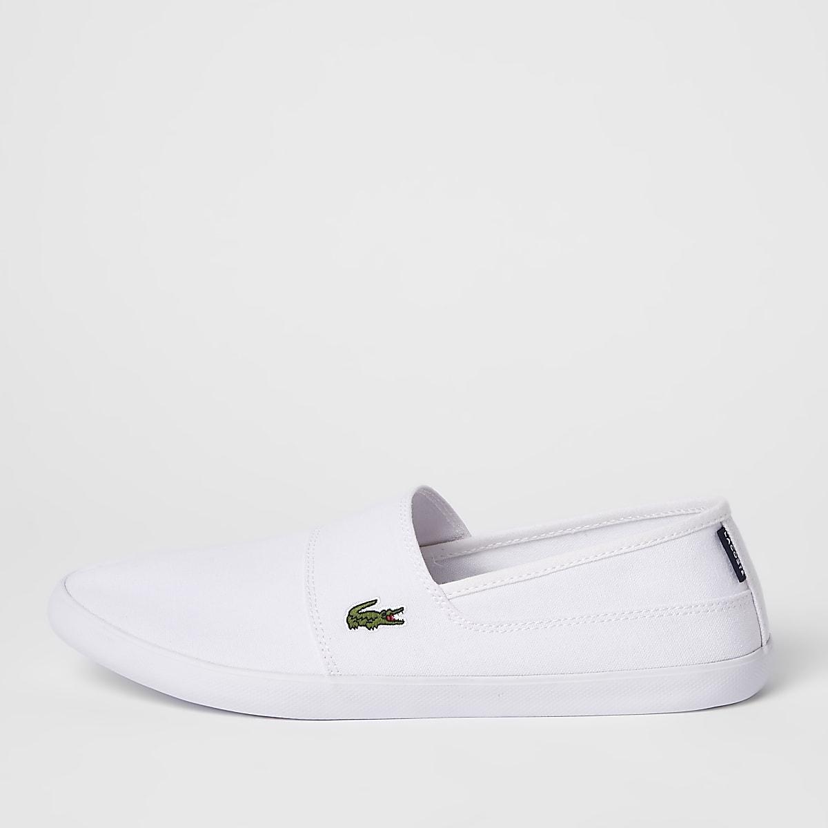 Lacoste – Baskets blanches à enfiler