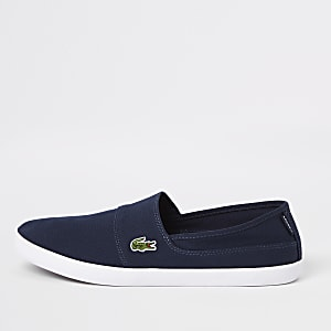 Lacoste navy slip on sneakers