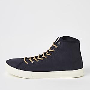 Levi's - Marineblauwe halfhoge sneakers