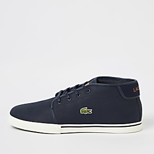 Lacoste navy leather sneakers