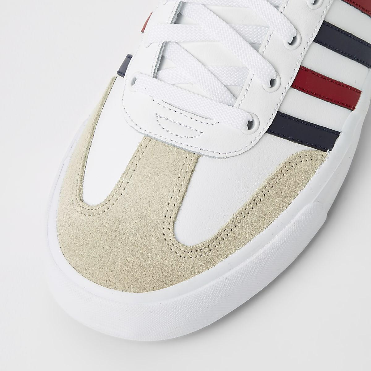 f8562ac0b15 K-Swiss - Witte leren sneakers met strepen - Sneakers - Schoenen ...