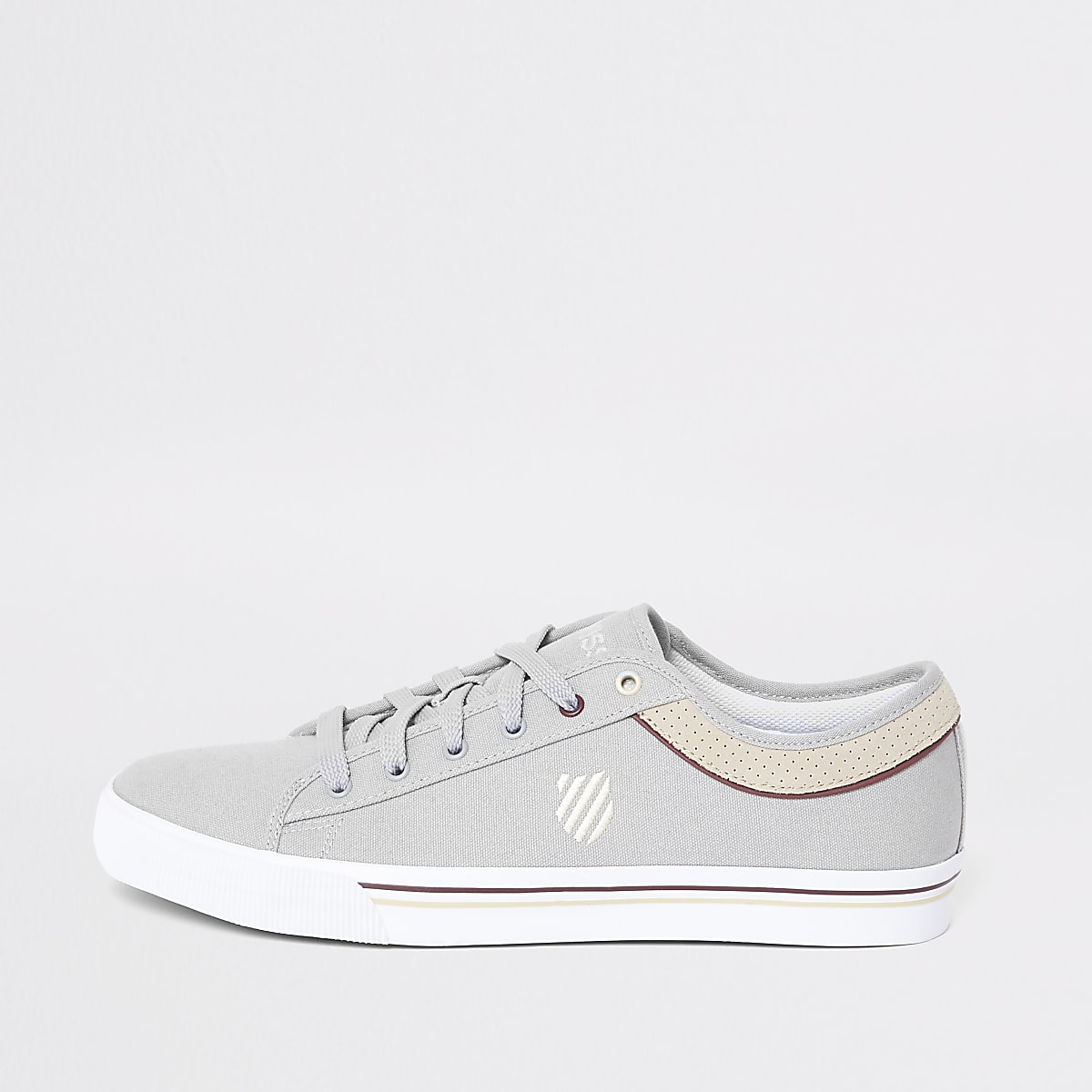 K-Swiss light grey Bridgeport trainers