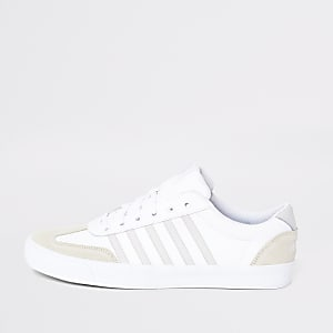 K-Swiss white leather Addison sneakers