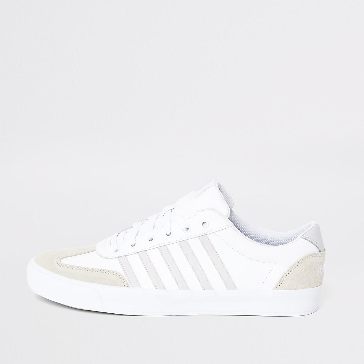 44efa4ba1da K-Swiss Addison - Witte leren senakers - Sneakers - Schoenen ...