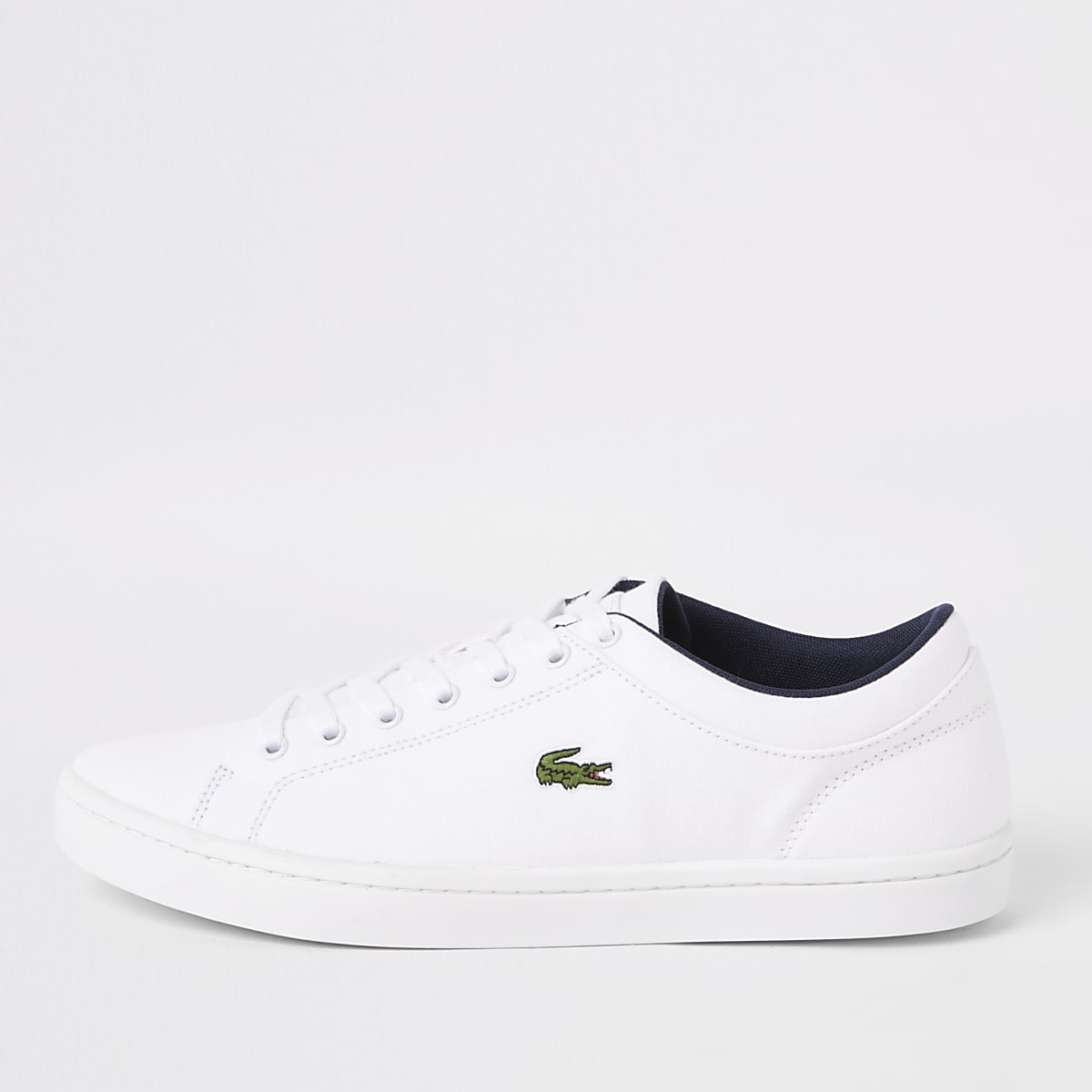 Lacoste Straightset white trainers