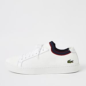Lacoste white textile sneakers