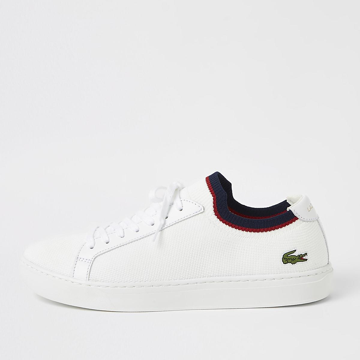 Lacoste white textile sneakers