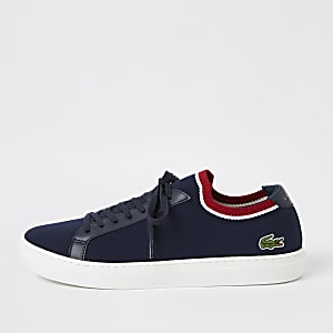Lacoste navy textile sneaker