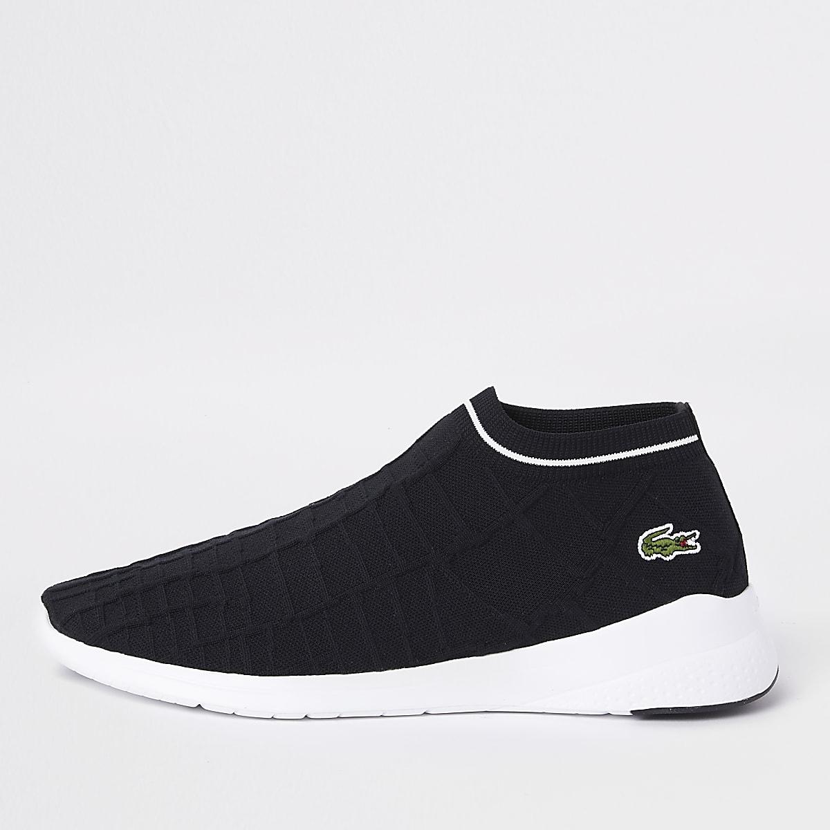 Lacoste - Zwarte soksneakers