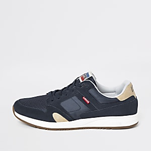 Levi's navy Sutter lace-up trainers