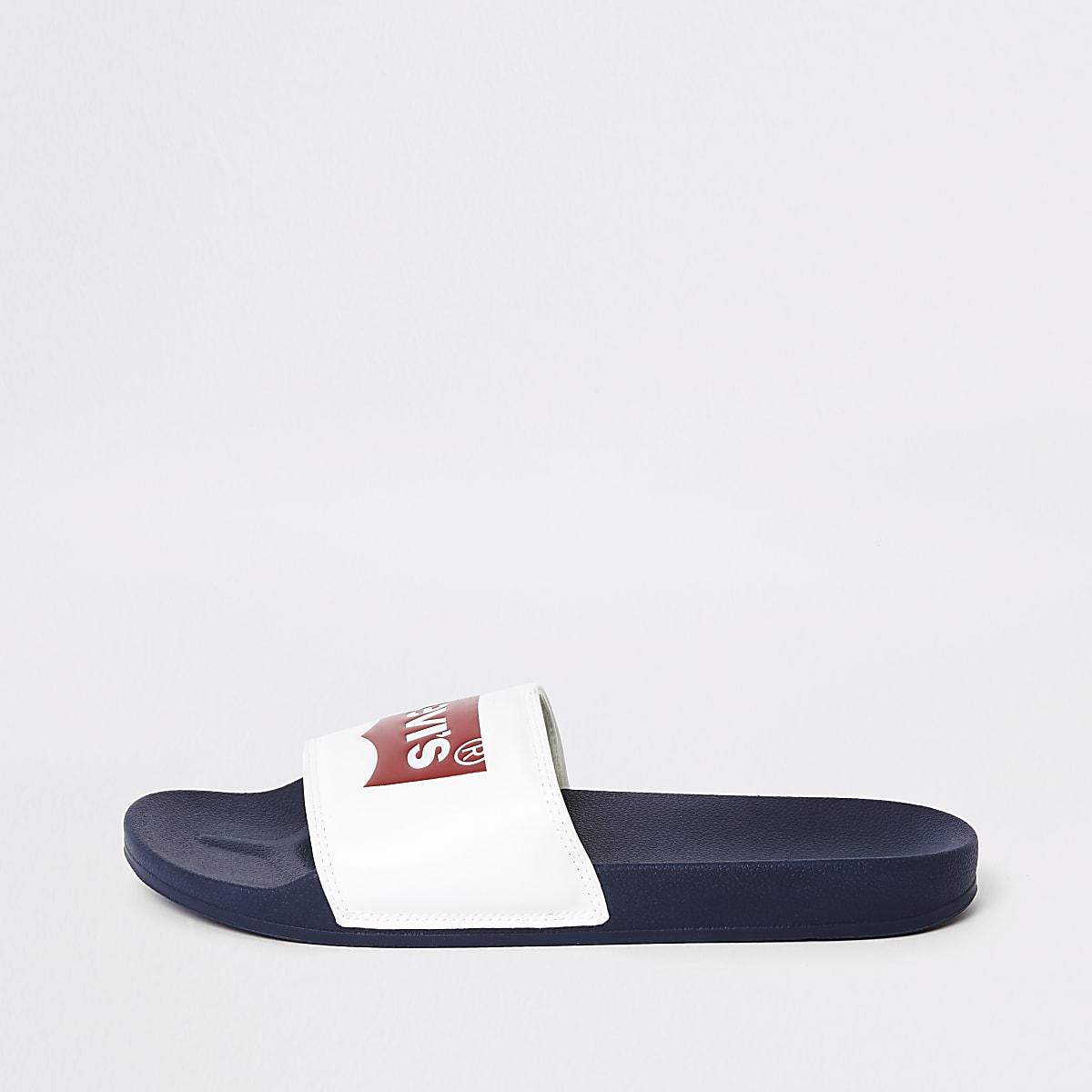 Levi's white sliders