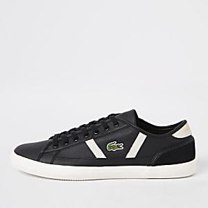 Lacoste Sideline - Zwarte leren sneakers