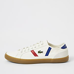 Lacoste white side trim sneakers
