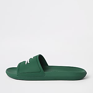 Lacoste green sliders