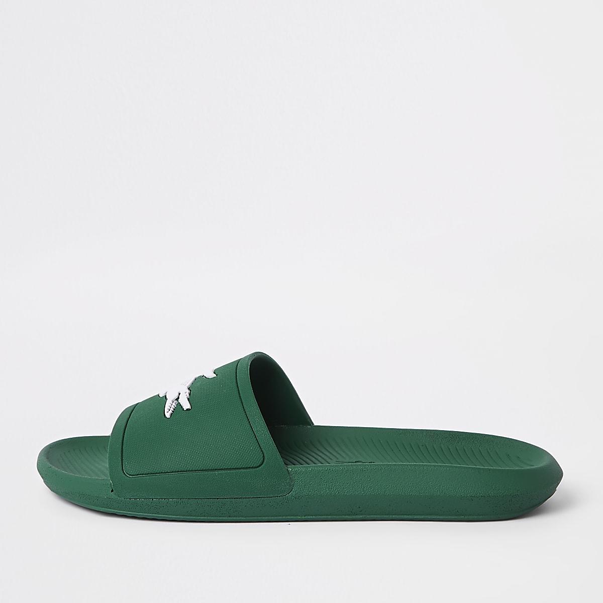 Lacoste green sliders