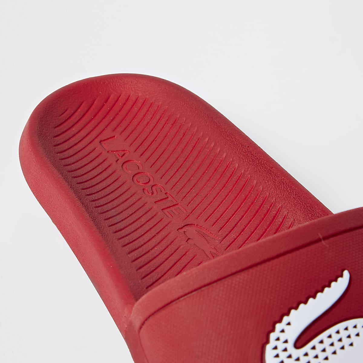 Dodatkowe Lacoste red sliders - Sandals / Flip flops - Shoes & Boots - men DF02