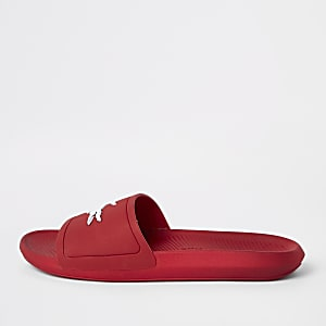 Lacoste slippers in rood