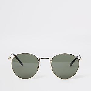 Goldene, runde Sonnenbrille