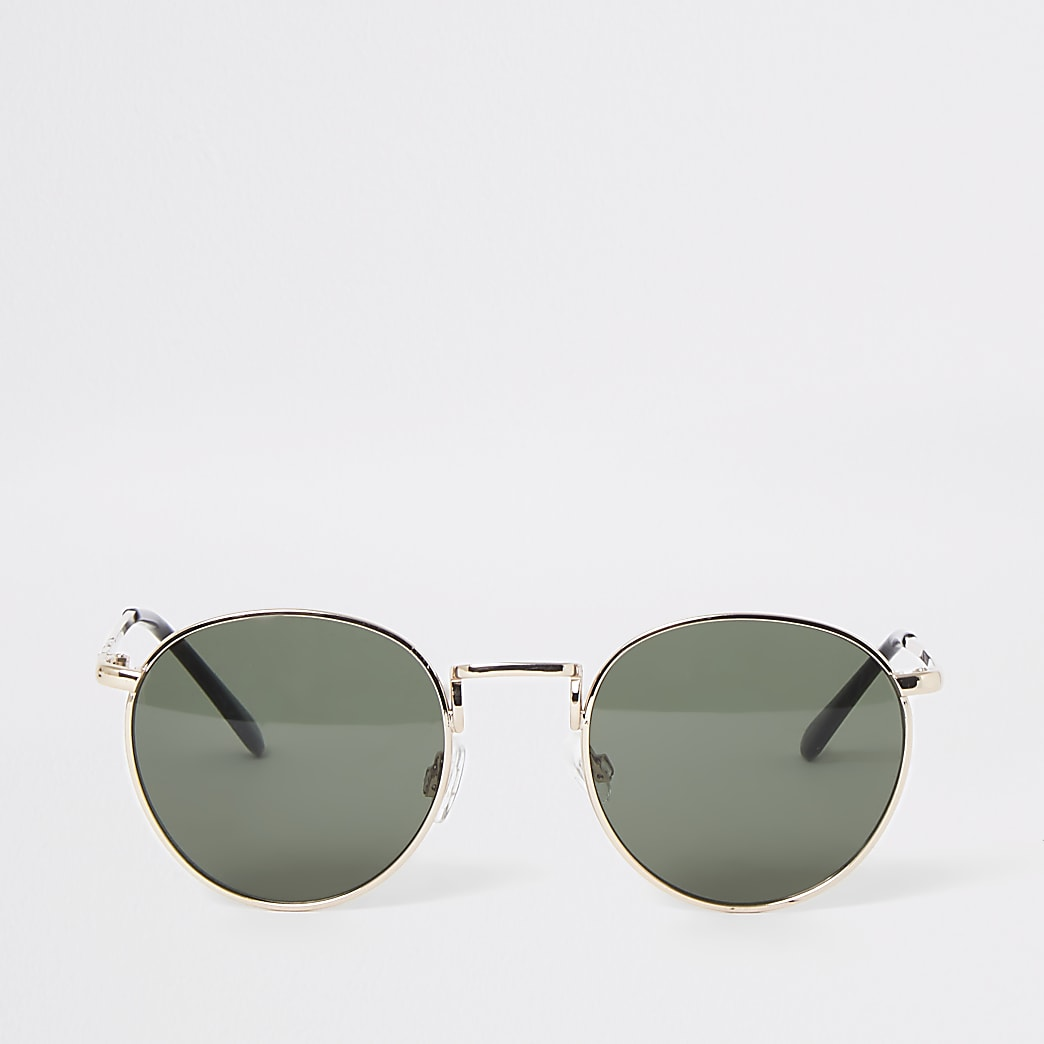 Gold colour round sunglasses