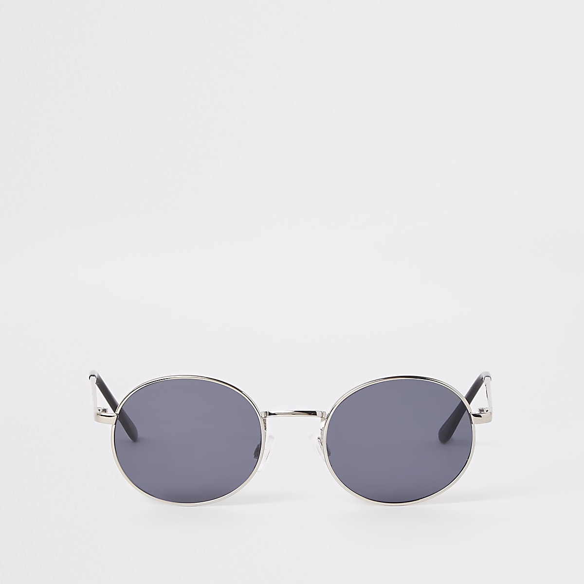 4adcbbe90edec0 Selected Homme - Zilverkleurige zonnebril met ronde glazen - Ronde ...
