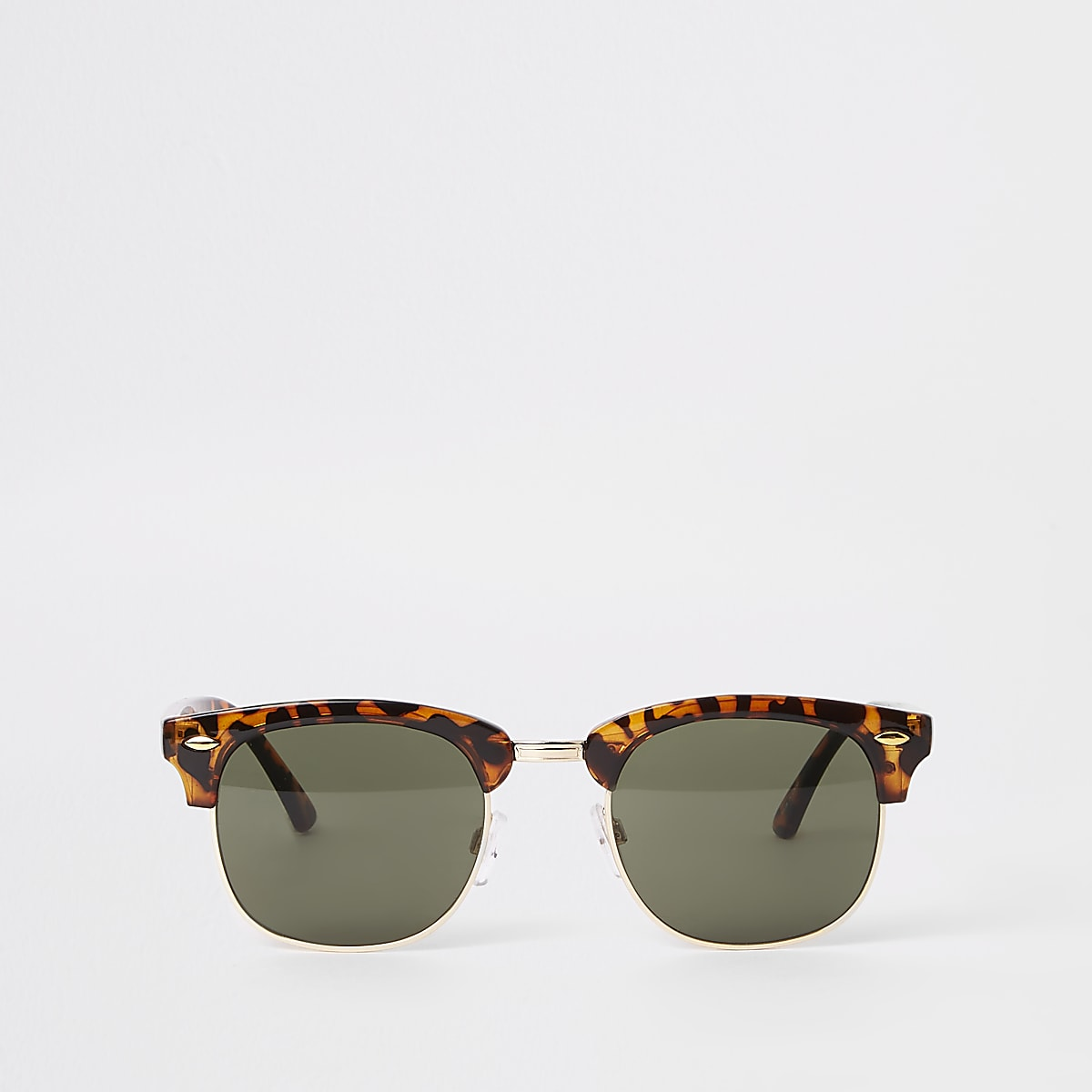 Selected Homme brown retro frame sunglasses