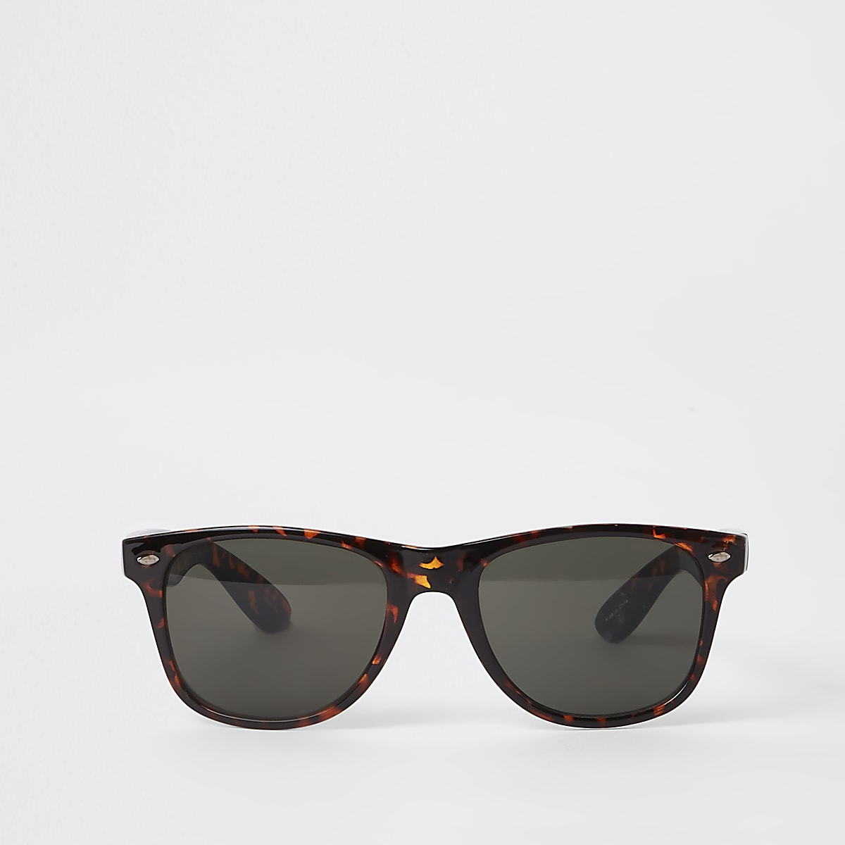 Selected Homme brown navigator sunglasses