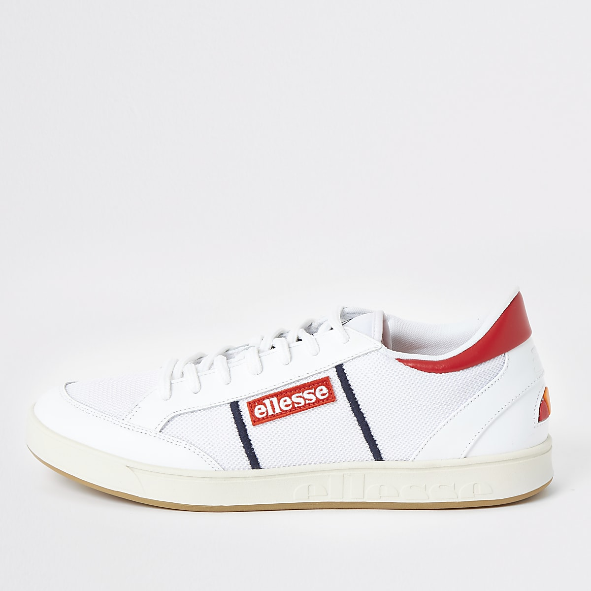 Ellesse white lace-up trainers