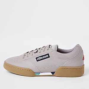 Ellesse grey Piacentino leather trainers