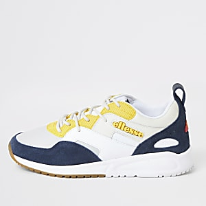 Ellesse white Potenza Lunar leather trainers