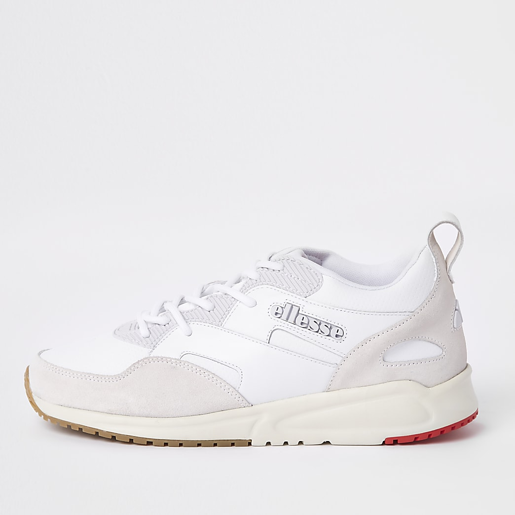Ellesse white Potenza leather trainers