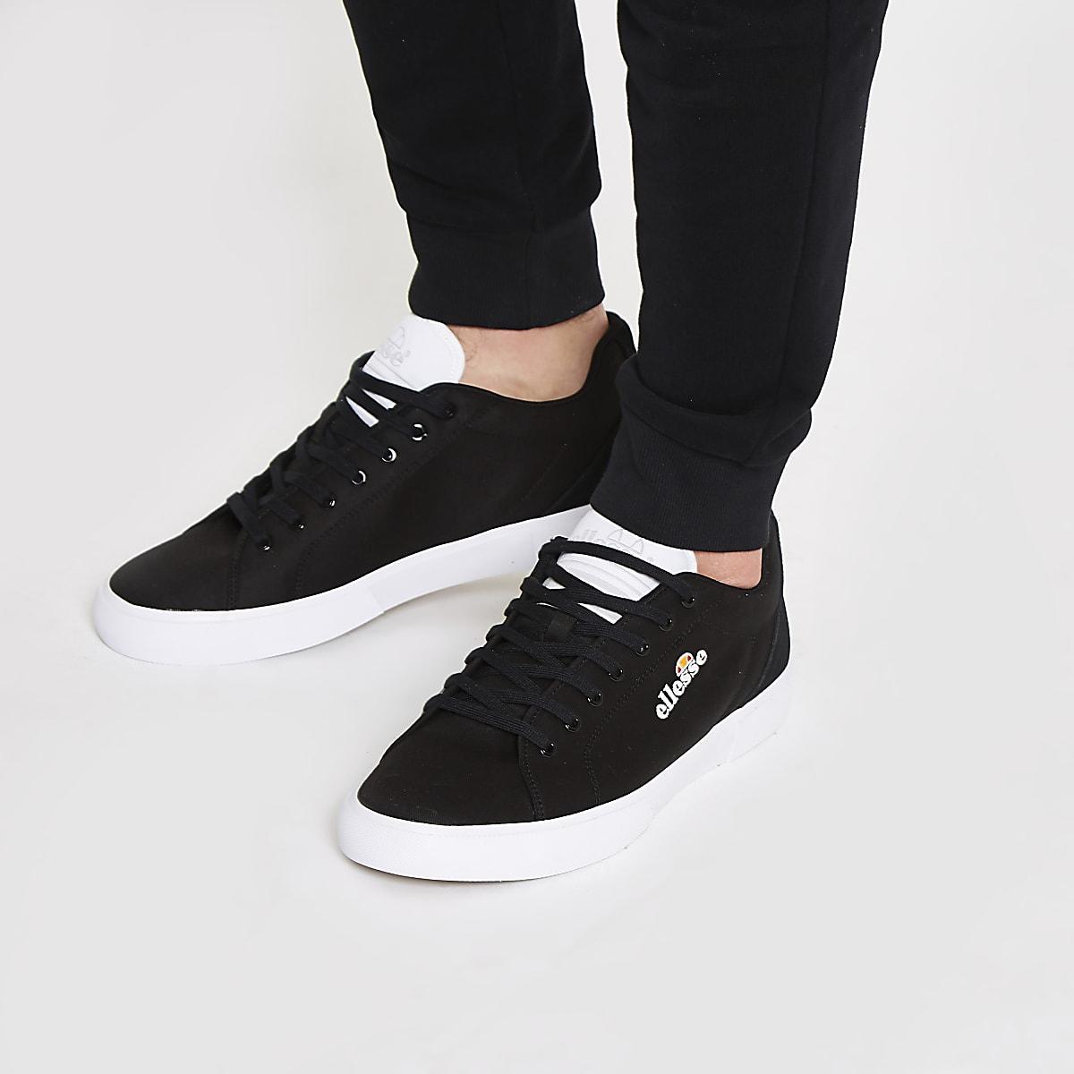 Ellesse Taggia – Toile Chaussures Baskets En Noires eEHI29YWD