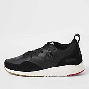 Ellesse – Potenza – Schwarze Sneaker aus Leder