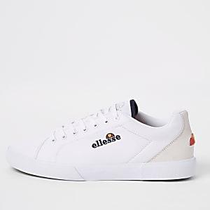 Ellesse – Taggia – Weiße Sneaker aus Leinen