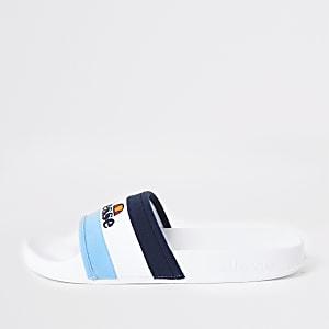 Ellesse – Blaue Slider mit Streifen