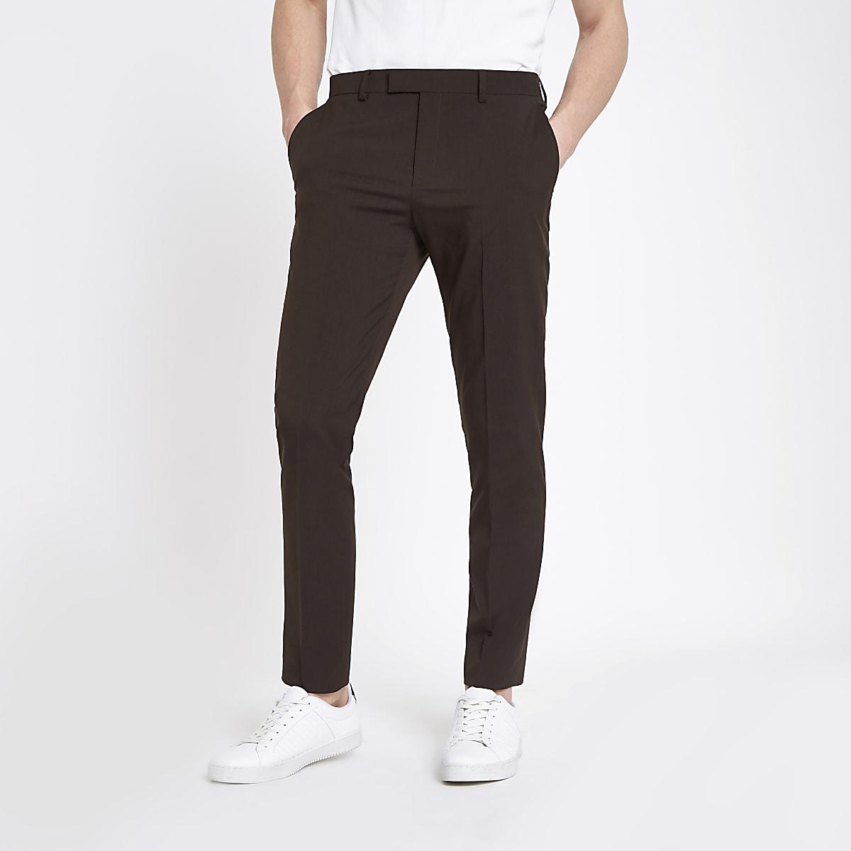 De Skinny Costume MarronRiver Island Pantalon g7yvI6bfY