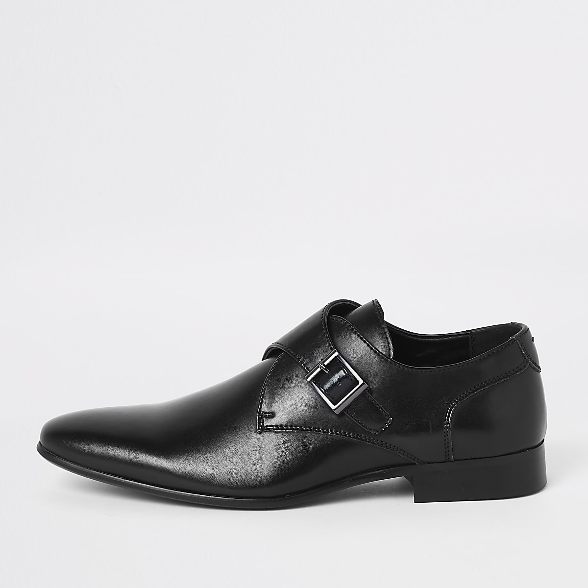 66e69a3f6b45a Black monk strap shoes