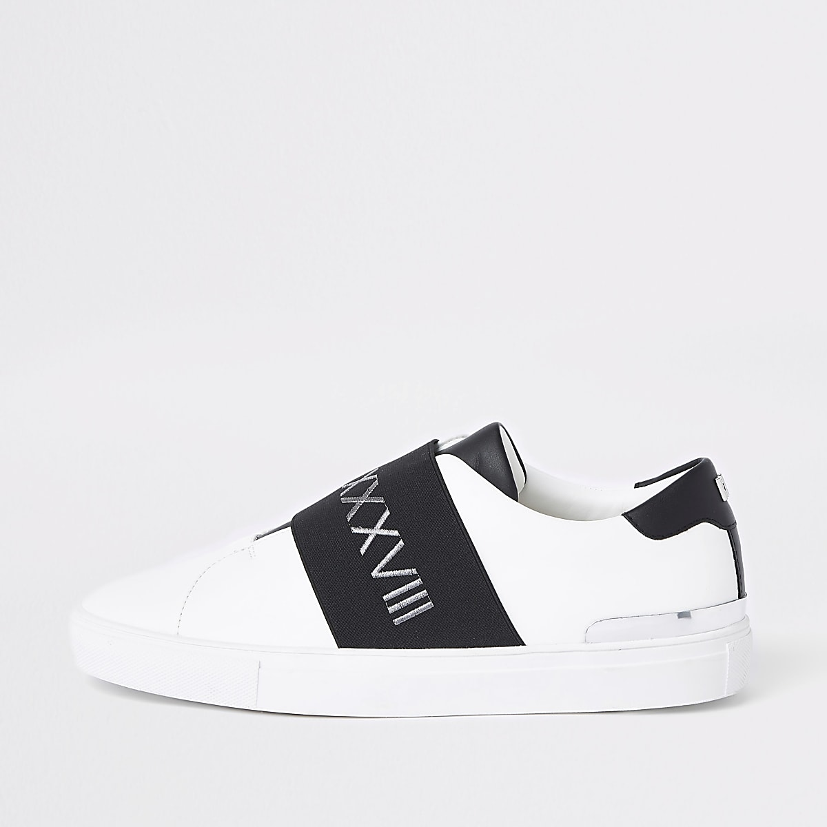 Weiße Sneakers zum Hineinschlüpfen