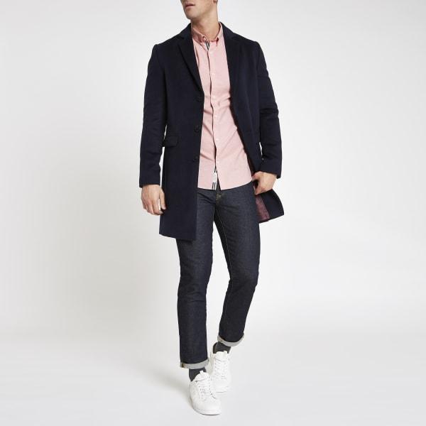 River Island - chemise en oxford ajustée rose - 4