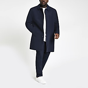 Big and Tall navy single button mac
