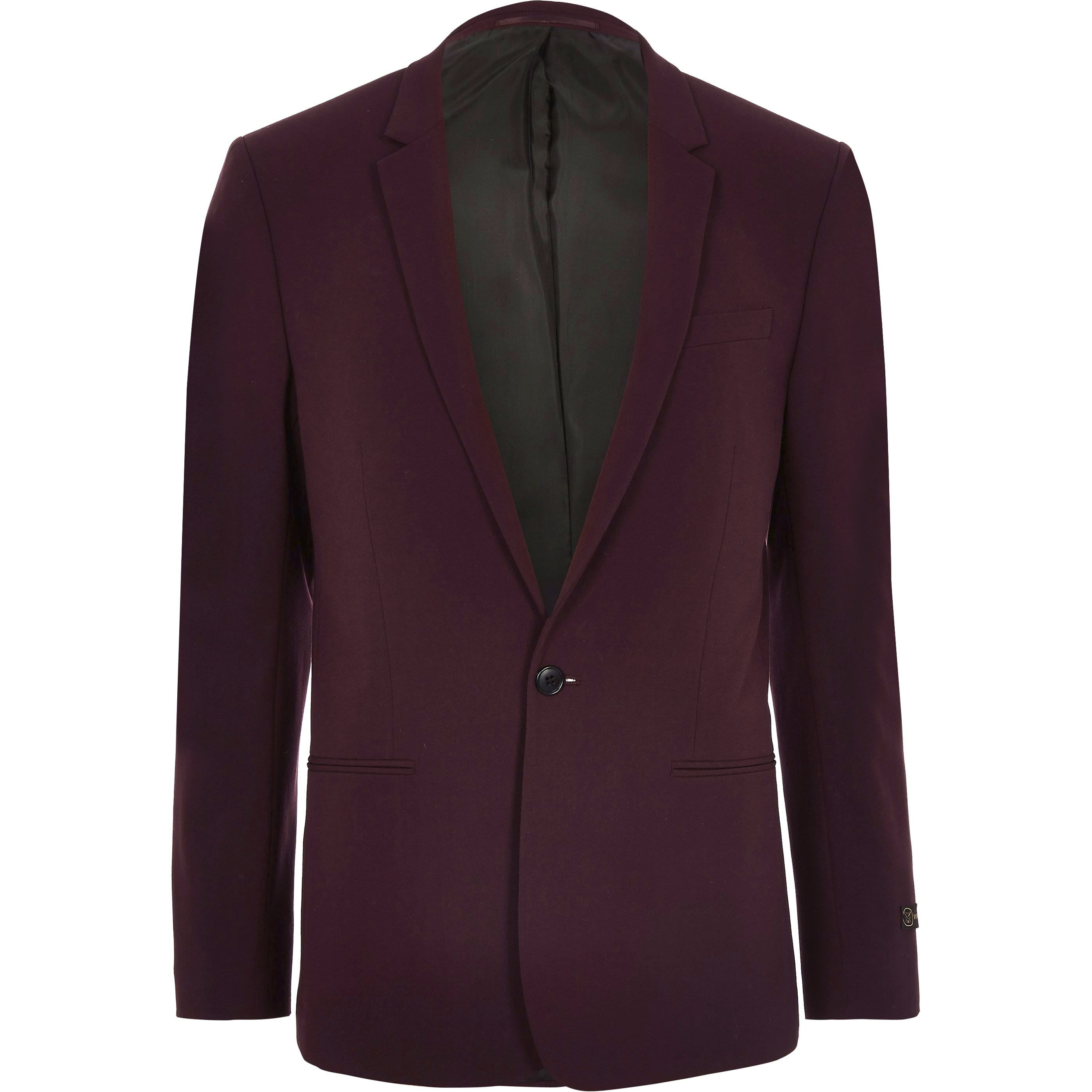 River Island - big and tall dark  suit jacket - 1
