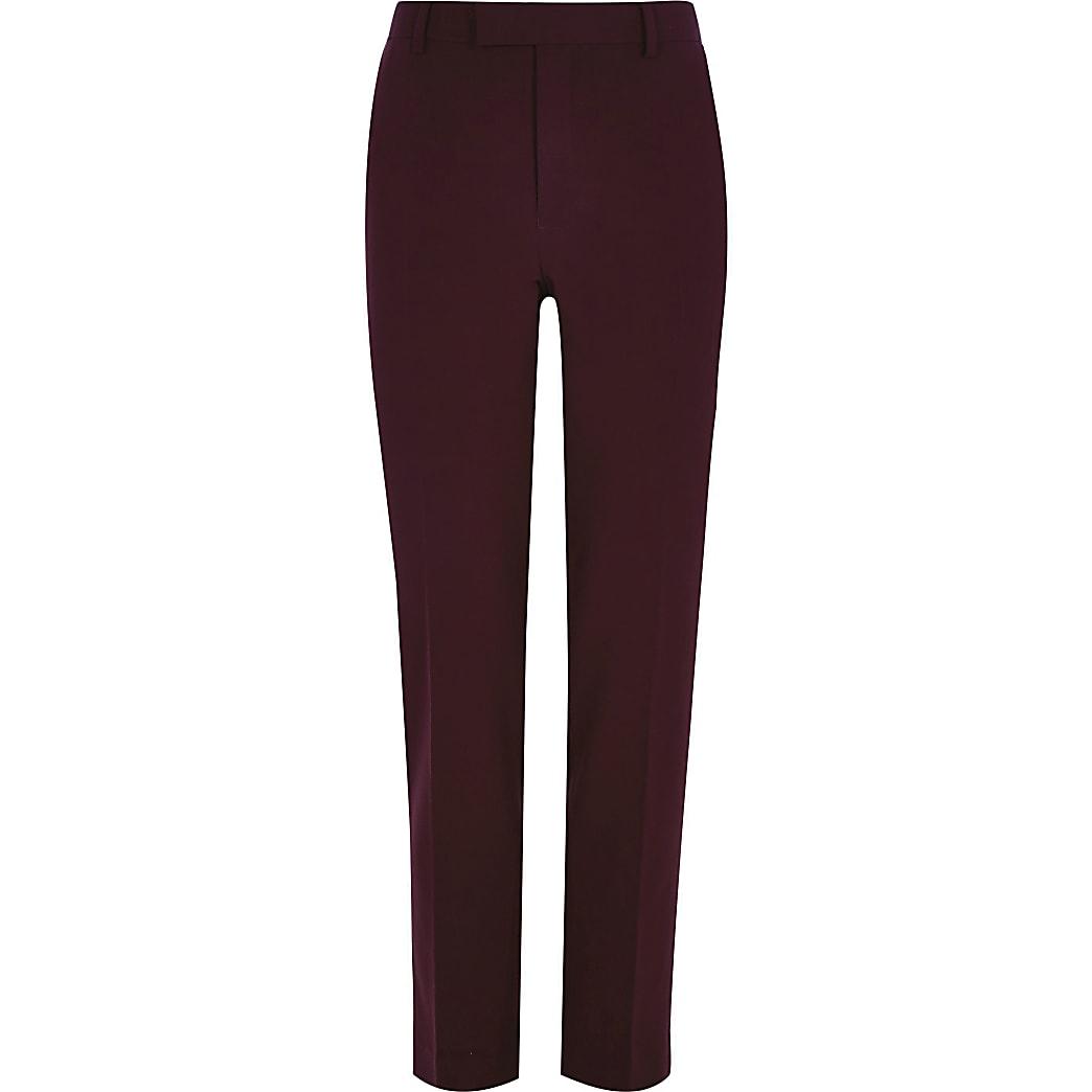 Big and Tall - Donkerorode pantalon