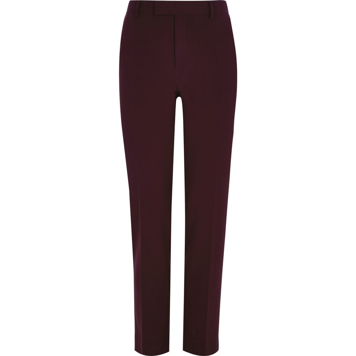 Big and Tall – Pantalon de costume rouge foncé