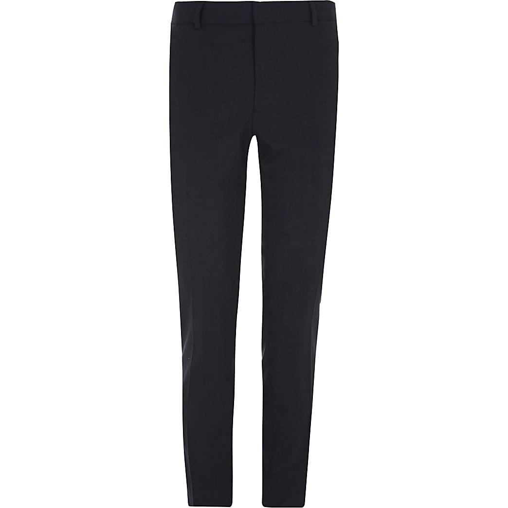 Big and Tall – Pantalon habillé bleu marine